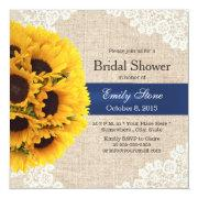 Rustic Sunflowers Lace & Burlap Bridal Shower