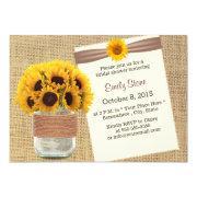 Rustic Sunflowers Rustic Mason Jar Bridal Shower