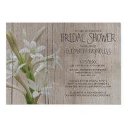 Rustic Tuberose Bridal Shower Invitations Custom Invitations