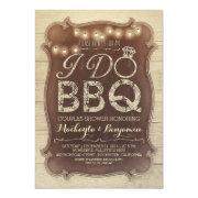 Rustic Vintage Bbq Couples Shower
