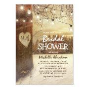 Rustic Winter Tree Twinkle Lights Bridal Shower