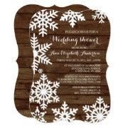 Rustic Winter Wedding Barn Wood Bridal Shower