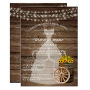 Rustic Wood Barrel Bridal Shower With Sunflowers