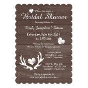 Rustic Wood Deer Antler Bridal Shower