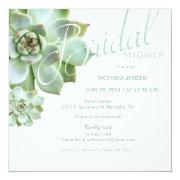 Sage Succulent Garden Bridal Shower Invitation