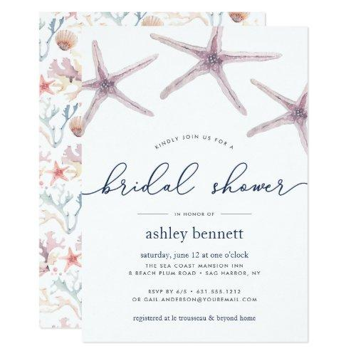 Sea Star Bridal Shower Invitation