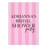 Secret Surprise Bridal Shower Party Pink Stripes