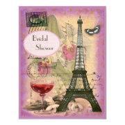 Shabby Chic Eiffel Tower & Red Wine Bridal Shower