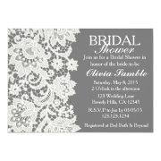 Shabby Chic Lace Bridal Shower Invitation