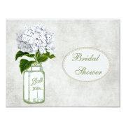 Shabby Chic Mason Jar & Hydrangea Bridal Shower