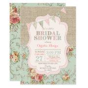 Shabby Rustic Country Chic Floral Lace Burlap