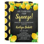 She Found Her Main Squeeze Lemon Bridal Shower Invitation
