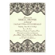 Sheer Lace Bridal Shower Custom Announcement