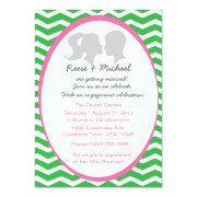 Silhouette Couple Custom Invites