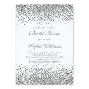 Silver Glitter Confetti Bridal Shower