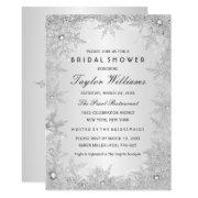 Silver Jewel Snowflake Bridal Shower