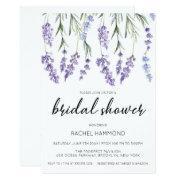 Simple And Elegant Lavender Bridal Shower Invitation