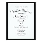 Simple Black And White Bridal Shower