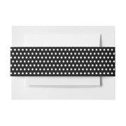 Simple Black & White Polka Dots Pattern Invitation Belly Band