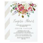 Simple Floral Watercolor Bouquet Lingerie Shower