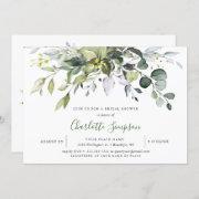 Simply Elegant Eucalyptus Bridal Shower Invitation
