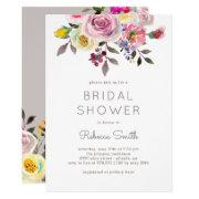 Simply Pretty Editable Color Bridal Shower Invite