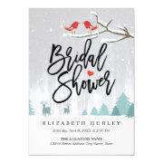 Snow Scene Bridal Shower Winter Wedding