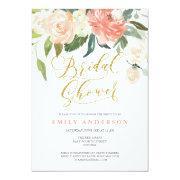 Soft Bloom Peach Floral Bridal Shower