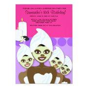 Spa Birthday Or Bridal Shower African American