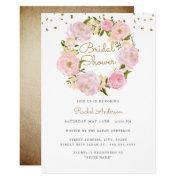 Sparkle Rose Wreath Pink Gold Bridal Shower