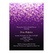 Sparkling Lights Purple Wedding Bridal Shower
