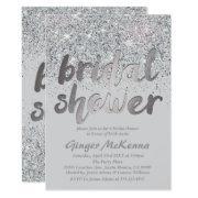 Sparkling Silver Glitter Bridal Shower