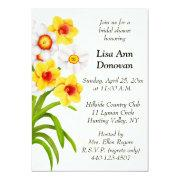 Spring Daffodil Flowers Bridal Shower