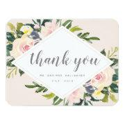 Spring Florals | Flat Wedding Thank You Invitations