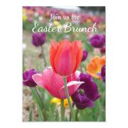 Spring Tulips Easter Brunch Invitations