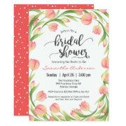 Spring Tulips Floral Bridal Shower Invitations