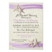 Starfish And Purple Ribbon Bridal Shower