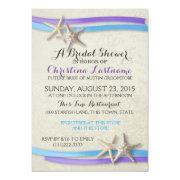 Starfish And Ribbon Purple And Blue Bridal Shower
