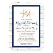 Beach bridal shower invitations funbridalshowerinvitations starfish whitewashed wood beach bridal shower filmwisefo
