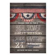 Stars & Stripes; Rustic Wood Bridal Shower