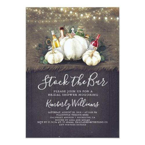Stock The Bar Fall Party / Bridal Shower Invitation