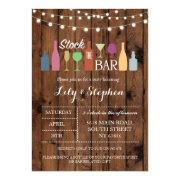 Stock The Bar Rustic Party Engagement