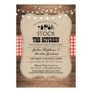Stock The Kitchen Bar Party Engagement Invitation