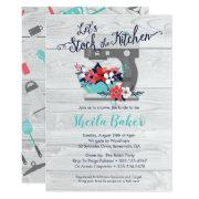 Stock The Kitchen Bridal Shower Invitation