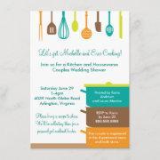 Stock The Kitchen Bridal Wedding Couples Shower Invitation