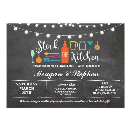 Stock The Kitchen Engagement Party Couples Shower Invitations