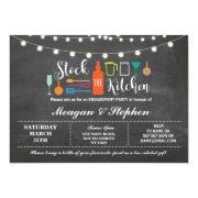Stock The Kitchen Engagement Party Couples Shower Invitation