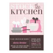 Stock The Kitchen Invitations