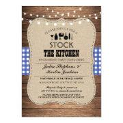 Stock The Kitchen Party Engagement Shower Invite