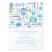 Stock the Kitchen Retro Style Bridal Shower Custom Invitations
